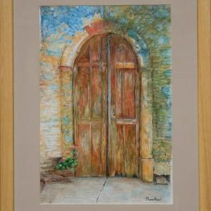 Grcka-vrata-3---akvarel-