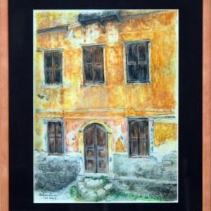 Stara-grcka-kuca---akvarel